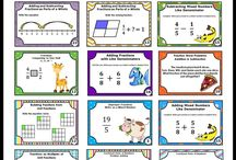 Math for Fourth Grade Teaching Activities / You will find fun 4th grade ideas, activities, printables worksheets, games, task cards, interactive notebooks  and more. This includes place value, multiplication and division facts, equivalent fractions, problem solving, number sense, etc.