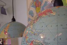 Encontrando cosas bonitas: Globos Terraqeos ~ Globes / Preciosa colección de #globosterraqueos #globes