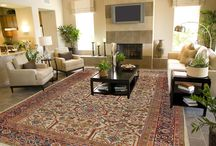 Rugs in a Setting / Showing rugs in a room setting gives a feel for how antique rugs can bring an area to life