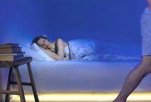 Ledstrips in slaapkamer
