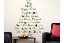Holiday Wall Decals / Christmas Tree Quote Giant Wall Decal $36.49  / by Nancy Fitzpatrick