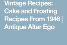 Vintage Recipes:-)