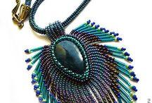 bead brooch