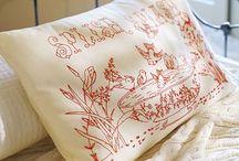 Redwork - pillowcases