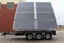 Solar Trailer / The Solar Trailer is a innovation solar system,it allow you to install something you wanted,such as led light or CCTV cameras.It will be a very useful system.