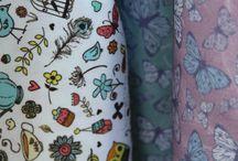 Tea at Hatties / Hattie Lloyd's fun wallpaper design called Tea at Hattie's which is on sale now