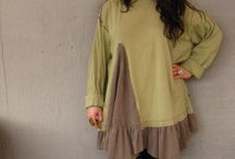 Romantic Lagenlook Tunic upcycled clothing by lillienoradrygoods