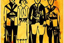 Quadrinhos em Azulejos - Coleção Cordel. / Quadrinhos confeccionados em Azulejo no tamanho 15x15 cm.Tem um ganchinho no verso para fixar na parede. Inspirados em xilogravuras da Literatura de Cordel Para entrar em contato conosco, acesse: www.babadocerto.com.br