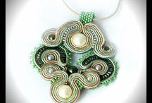 Soutache pendant / Maya's design - unique soutache jewelry  soutache pendants