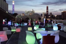 illuminated Led outdoor Furniture / Led Outdoor  Furniture and Lighting collection