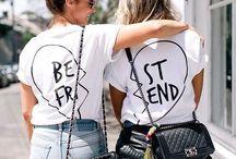 T shirt Best Friends / Cerchi un #regalo per la migliore #amica o il miglior #amico? Sorprendilo con un regalo speciale che gli dimostri quanto ti completi!  Un #simbolo indelebile della vostra complicità! clicca su www.babloo.it