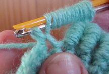Crochet stitches, haak steken