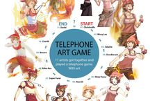 Telephone Art Games / https://www.facebook.com/telephoneartgames