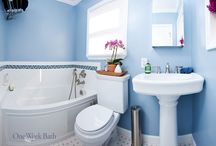 Bathroom Design 84 / Our traditional style blue and white bathroom remodel.