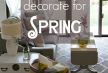 Spring Home / Spring is the season when everything starts coming back to life and fills the outdoors with every color under the sun. Everything you need from ideas to DIY to bring that Spring feel to your home.