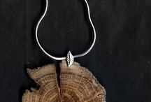 Jewellery frm woodslice, wire wrapping etc
