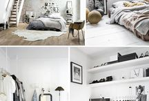 black and white / interior