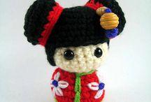 amigurumi - Kokeshi Doll
