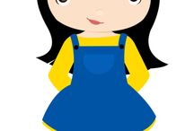 Mascote de meninas