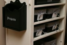 Storage / Ideas about storage and/or organization to try.  Emphasis on ease of use.
