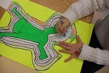 kid art - sillouette/haring