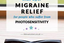 Migraine Relief / Ideas for migraine and headache relief