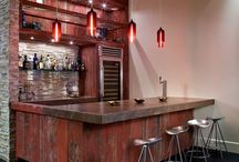 Home: Man cave spaces / den, family room, lounging space / by Andrea Jackson