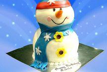 WINTER IN WONDERLAND CAKE TOPPER SNOWMAN