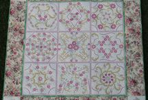 Quilts with Hatched Designs