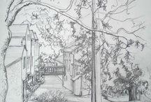 charcoal drawing / houtskoolschetsen