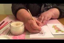 Coloring techniques / Techniques using coloured pencils