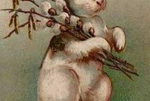 Funny Bunny / Vintage Easter Cards with bunnies