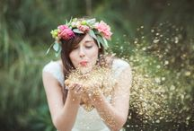 wedding gold / glitter / Mariage or