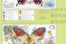 farfalle punto croce