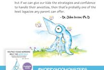 """Helping Young Worriers Beat The WorryBug / Inspirational quotes from Dr. John Irvine's mew book """"Helping Young Worriers Beat The WorryBug"""""""