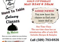 Cooking Classes / Learn new recipes, sample great healthy food prepared. We are support the Cancer project, and Diabetes Association. Let's have some fun!