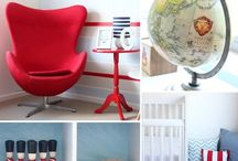 Nursery Red + White + Blue / Decorating a little boy's nursery in red, white, and blue. This color theme also works for a toddler or big boy room, making the nursery transformation budget friendly.
