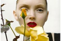 Portraits with flowers