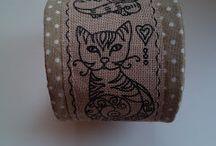 Hobbylka - šité náramky / Látkový náramek