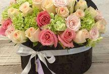 boites et fleurs