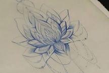 Tattoo lotus flower on rip