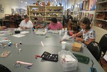 Wire and Bead Bracelets / Our clubs class on making wire/bead bracelets. They were fabulous!  Thank you Amy!