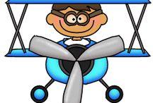 samolot i inne cartoony