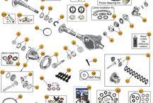 Jeep TJ Parts Diagrams / by Morris4x4Center.com
