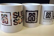 Examples of Printed Mugs / This board shows some examples of the sublimation printing that we can do with all manor of deisgns