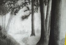 Dibujos carboncillo