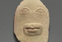sculptures antiques têtes et visages