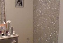 glitter wall ideas