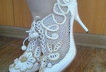 Irish crochet shoes