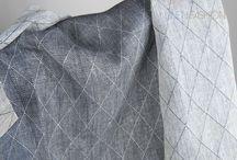 Jacquard linen fabrics / The beautiful fabrics with an intricately woven pattern.